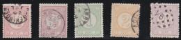 Nederland  .    NVPH      .    30E/33E       .    O    .     Gebruikt   .    /    .     Cancelled - Periode 1852-1890 (Willem III)