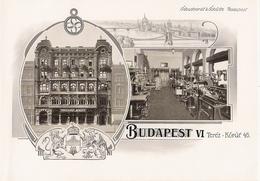 BUDAPEST Belle Planche De 1914 De L' Entreprise Schuchardt Et Schütte Terez Korut 46 - Zonder Classificatie