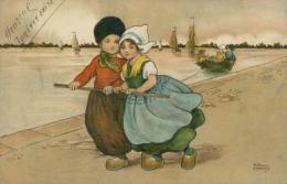 BE DIVERS / Enfants Sur Un Quai Tractant Un Barque / Dessin Couleur / - Non Classés