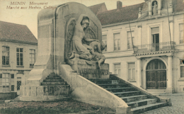 BE MENIN / Monument  Marché Aux Herbes / - Belgique