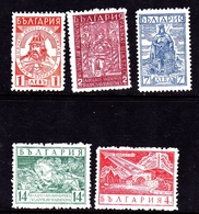 Bulgaria SG 363-367  1935 Battle Of Varna, Mint Never Hinged - 1909-45 Kingdom