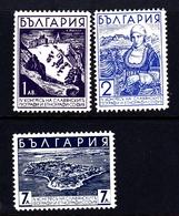 Bulgaria SG 376-378 1936 Slav Geographical Congress, Mint Hinged - 1909-45 Kingdom