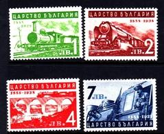 Bulgaria SG 418-421 1939 50th Anniversary Railway, Mint Never Hinged - 1909-45 Kingdom