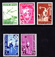 Bulgaria SG 424-428 1939 Yunak Gymnastic Society, Mint Hinged - 1909-45 Kingdom