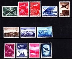 Bulgaria SG 434-445 1940 Air Post, Mint Never Hinged - 1909-45 Kingdom