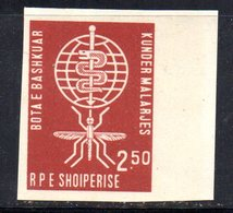260 - 490 - ALBANIA 1962 ,    Yvert N. 570  ***  Malaria NON DENTELLATO - Albania