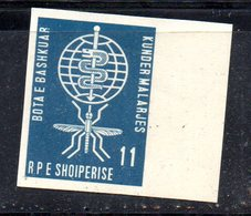 262 - 490 - ALBANIA 1962 ,    Yvert N. 572  NON DENTELLATO  ***  Malaria - Albania