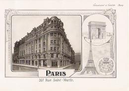 PARIS  Belle Planche De 1914 De L' Entreprise Schuchardt Et Schütte 327 Rue Saint Martin - Zonder Classificatie