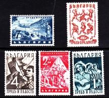 Bulgaria SG 502-506 1942 Work And Joy, Mint Never Hinged - 1909-45 Kingdom