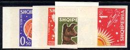 268 - 490 - ALBANIA 1962 ,    Yvert N. 585/588  ***  NON DENTELLATO. SPAZIO - Albania