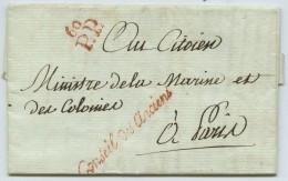 Conseil Des Anciens / LàC 1798 En Port Payé . Vigneron à Ministre De La Marine Et Des Colonies . Combat De Prairial . - Postmark Collection (Covers)