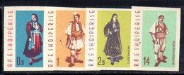 273 - 490 - ALBANIA 1962 ,    Yvert N. 593/596  ***  Costumi - Albania