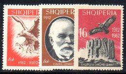 274 - 490 - ALBANIA 1962 ,    Yvert N. 601/603  *** - Albania