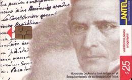 TARJETA TELEFONICA DE URUGUAY, 144a (169) PUZZLE DE ARTIGAS - Uruguay