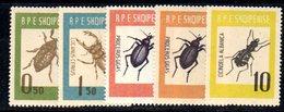 277 - 490 - ALBANIA 1963 ,    Yvert N. 616/619  ***  Insetti - Albania