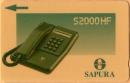 Malaysia - GPT, Telephone 2 - SAPURA, 6MSAE, 5 RM, 120.000ex, 1991, Used - Malaysia