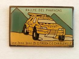 PIN'S CITROËN - ZX - 1er 2éme 3éme RALLYE DES PHARAONS - C.E CHARLEVILLE - Citroën