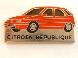 PIN'S CITROËN - ZX - REPUBLIQUE - Citroën