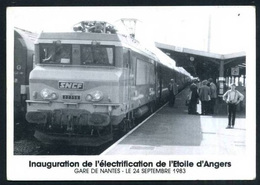 44  NANTES   N° 00542  Gare De Nantes 24 Septembre 1983  Inauguration De L Electrification De L;Etoi - Nantes