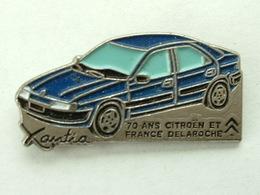 PIN'S CITROËN - XANTIA - 70 ANS CITROËN ET FRANCE DELAROCHE - Citroën
