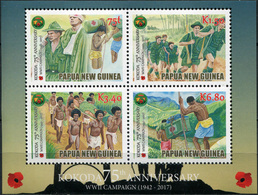 Papua New Guinea. 2017. 75th Anniversary Of The Kokoda Trail Campaign (MNH OG **) Miniature Sheet - Papouasie-Nouvelle-Guinée