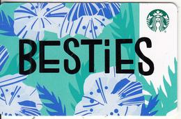 USA - Besties, Starbucks Card, CN : 6153, Unused - Gift Cards
