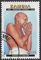 Zambia SG777 1998 50th Death Anniversary Of Mahatma Gandhi 900k Good/fine Used [37/30774/2D] - Zambia (1965-...)