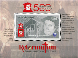 Papua New Guinea. 2017. 500th Anniversary Of The Reformation (MNH OG **) Souvenir Sheet - Papouasie-Nouvelle-Guinée