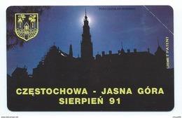 POLAND 5 - 25u CZESTOCHOWA - JASNA GORA SIERPIEN 91 1991 MINT NEUVE POLAND URMET - Pologne