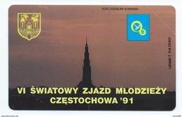 POLAND 6 - 50u SWIATOWY - ZJAZD MLODZIEZY CZESTOCHOWA 91 1991 MINT NEUVE POLAND - Pologne