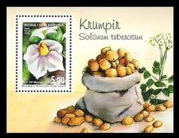 Bosnia And Herzegovina (Croatian) 2008 Mih. 242 (Bl.16) Flora. Vegetables. Potato MNH ** - Bosnia And Herzegovina
