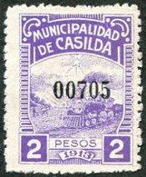 Argentina Casilda 1913 Local Revenue Fiscal Tax Railway Eisenbahn Chemin De Fer TRAIN Steam Locomotive HORSE Ploughing - Trains