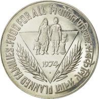 INDIA-REPUBLIC, 50 Rupees, 1974, Mumbai, Bombay, SUP, Argent, KM:255 - Inde
