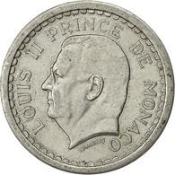 Monaco, Louis II, 2 Francs, Undated (1943), Poissy, SUP, Aluminium, KM:121 - Monaco