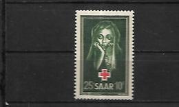 Sarre Croix  Rouge 1951  Cat Yt N°  292 N** MNH - 1947-56 Occupation Alliée