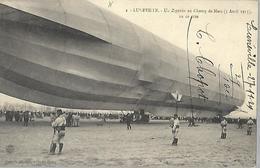 Lunéville  Un Zeppelin  Au Champ De Mars ( 01  Avril 1913 ) - Luneville