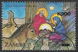Zambia SG760 1996 Christmas 900k On 80k Good/fine Used [37/30781/2D] - Zambia (1965-...)