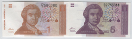 CROATIA 16, 17 1991 1, 5 Dinar UNC - Croatia