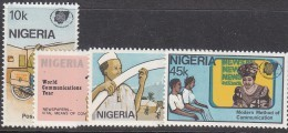 NIGERIA, 1983 COMMUNICATIONS 4 MNH - Nigeria (1961-...)