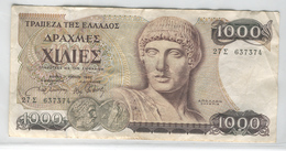 GREECE 202 1987 1000 Drachmals Used - Greece