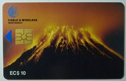 MONTSERRAT - First Issue - $10 - Volcano - Cable & Wireless - Used - Montserrat