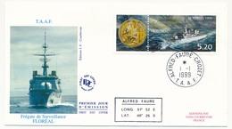 TAAF - Enveloppe FDC - 5,20 Frégate De Surveillance Floréal - Alfred Faure Crozet - 1/01/1999 - FDC