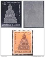 Lot De 2 Morceaux De Cylindre D'impression D'un Timbre D'Indonésie (cylinder Printing), Thème Divinité Artha Prospérité - Hinduism