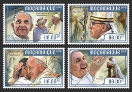 MOZAMBIQUE 2018 MNH** Pope Francis Papst Franzisuks Pape Francois 4v - IMPERFORATED - DH1818 - Päpste