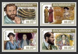 MOZAMBIQUE 2018 MNH** Gustav Klimt Paintings Gemälde Peintures 4v - IMPERFORATED - DH1818 - Künste