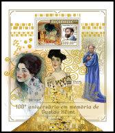 MOZAMBIQUE 2018 MNH** Gustav Klimt Paintings Gemälde Peintures S/S - IMPERFORATED - DH1818 - Künste