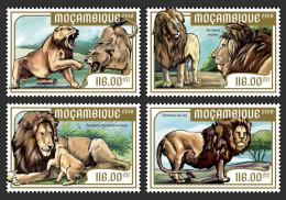 MOZAMBIQUE 2018 MNH** Lions Löwen Raubkatzen 4v - IMPERFORATED - DH1818 - Raubkatzen