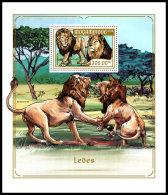 MOZAMBIQUE 2018 MNH** Lions Löwen Raubkatzen S/S - IMPERFORATED - DH1818 - Raubkatzen