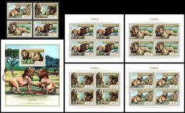 MOZAMBIQUE 2018 MNH** Lions Löwen Raubkatzen 4v+S/S+M/S - IMPERFORATED - DH1818 - Raubkatzen