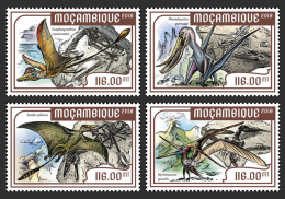 MOZAMBIQUE 2018 MNH** Flying Dínosaurs Flugsaurier Dinosaures Volants 4v - IMPERFORATED - DH1818 - Vor- U. Frühgeschichte
